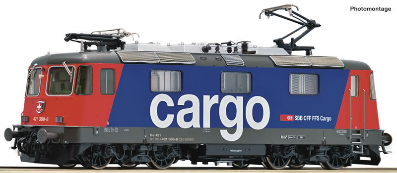Roco 73256 SBB Re 421 389-8 cargo DC NH