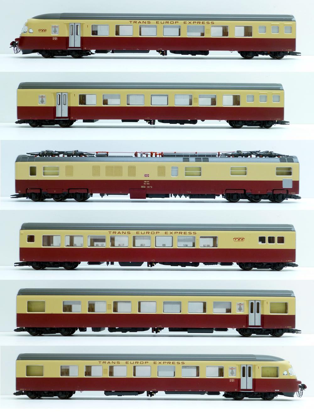 LS Models 17021 SBB RAe TEE 1052 6-teilig Ep IV crème/rot DC